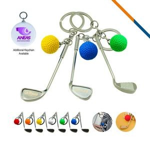 Golf Clubs Keychain